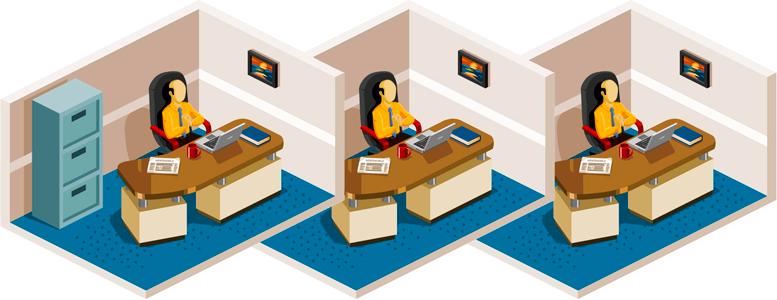 Переезд большого офиса